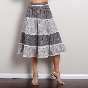 Vintage High Waisted Peasant Skirt
